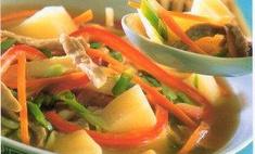 Китайский бульон с картофелем и свининой