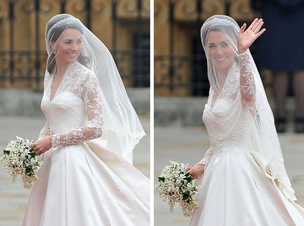 Фото №1 - 10 любопытных фактов о свадебном платье герцогини Кейт