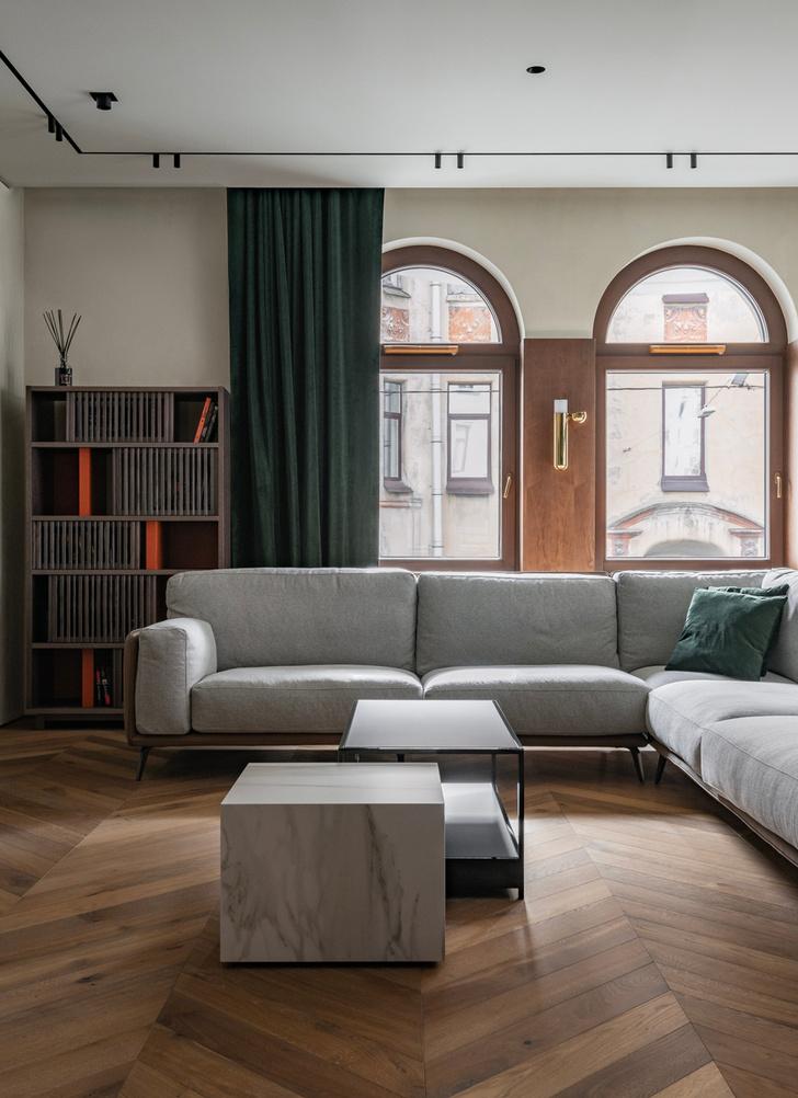 Фото №4 - Петербургский классицизм в современном ключе: квартира 195 м²