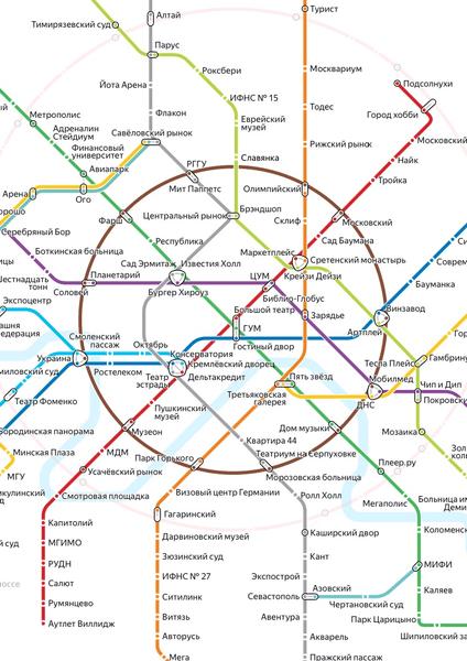 Фото №1 - Яндекс составил необычную карту метро, на которой переименовал все станции