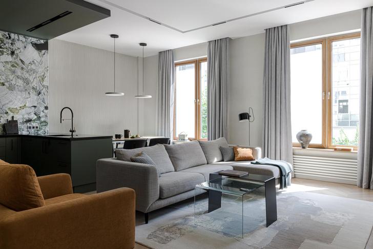 Фото №3 - Московская квартира 130 м² в оливково-кофейной цветовой гамме