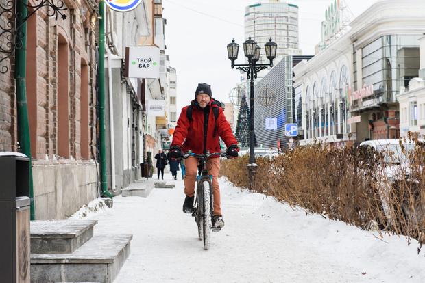 Фото №4 - Зимой по Екатеринбургу на велосипеде? Легко!