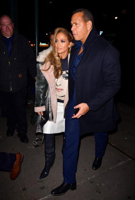 Дженнифер Лопес и Алекс Родригес в Нью-Йорке