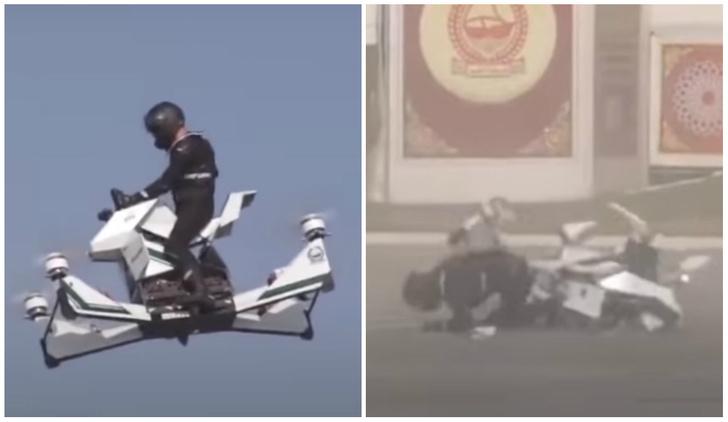 Фото №1 - Летающий мотоцикл российского разработчика рухнул во время тест-полета (видео)