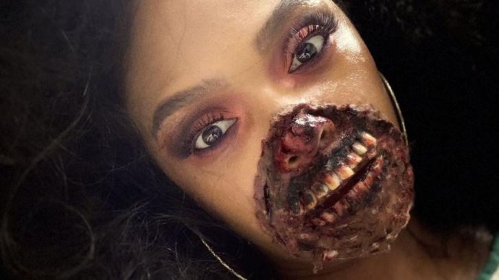 Фото №2 - В Мичигане врачи были перепуганы пациенткой в гриме зомби (фото)