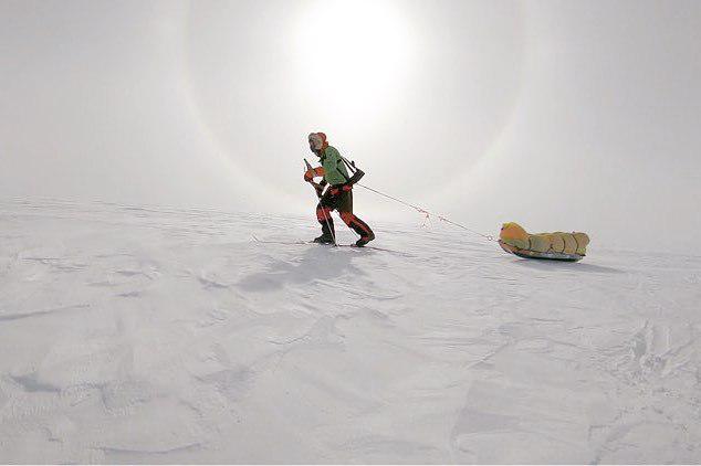 Фото №1 - Американец первым в истории пересек Антарктиду в одиночку