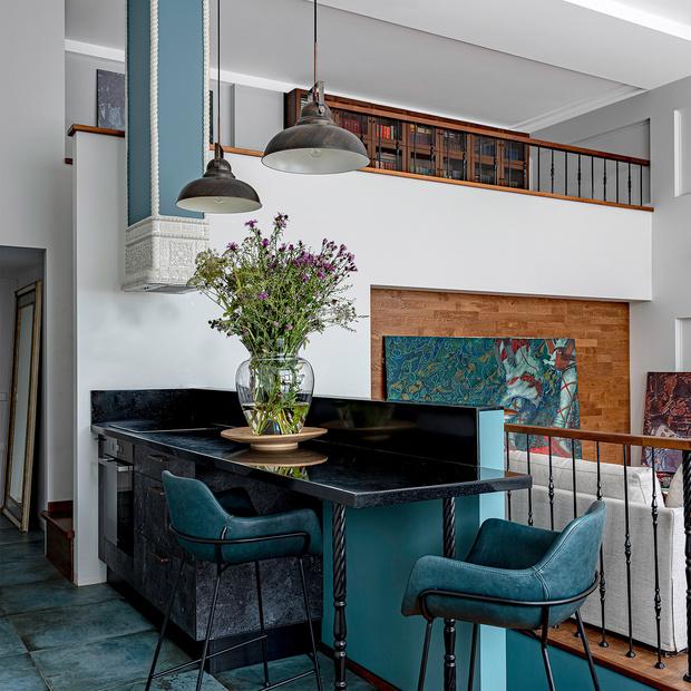 Фото №2 - Двухэтажный пентхаус в стиле бохо в Перми