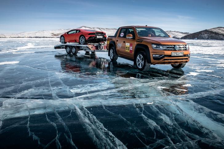 Фото №1 - Марка Volkswagen Коммерческие автомобили приняла участие в фестивале «Дни скорости на льду Байкала»