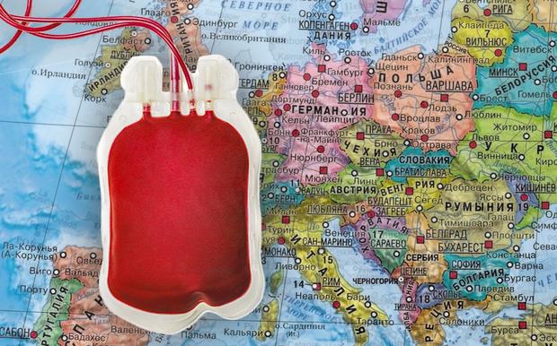 Фото №1 - Карта. Люди с какой группой крови преобладают в различных странах