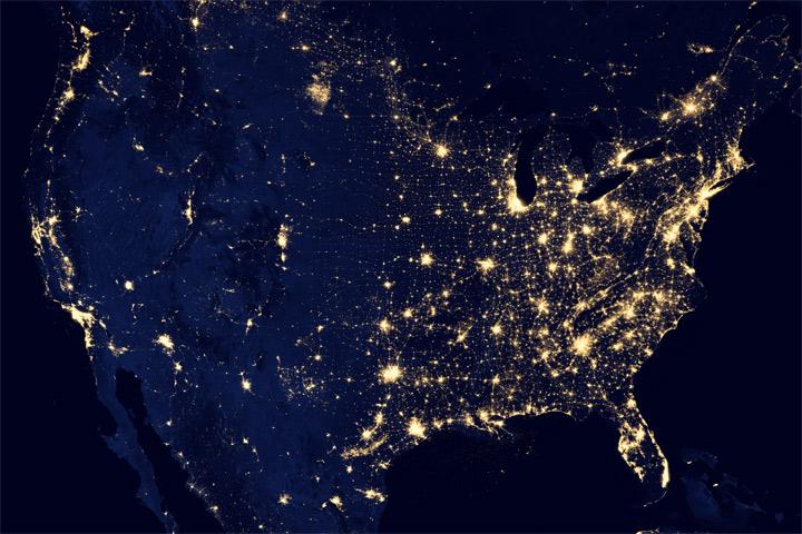 Фото №1 - На Рождество США потребляет больше электричества, чем другие страны за год