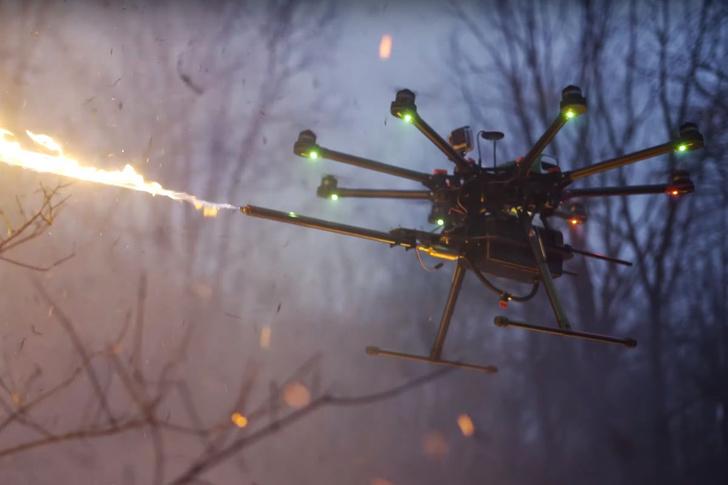 Фото №1 - Скоро в продажу поступит дрон с огнемётом (видео)