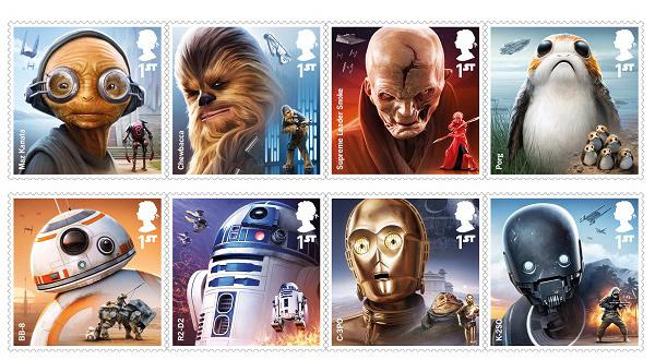Фото №1 - В Великобритании выпустят марки с героями «Звездных войн»