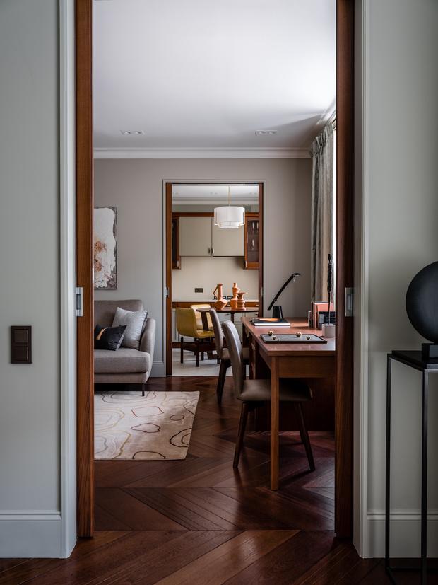Фото №5 - Интерьер месяца: анфиладная квартира в сталинке 60 м²