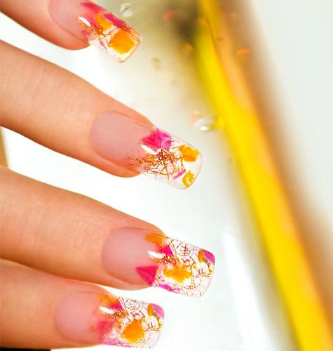 Дизайн ногтей осень-зима 2015. Аквариумный дизайн ногтей. Фото.