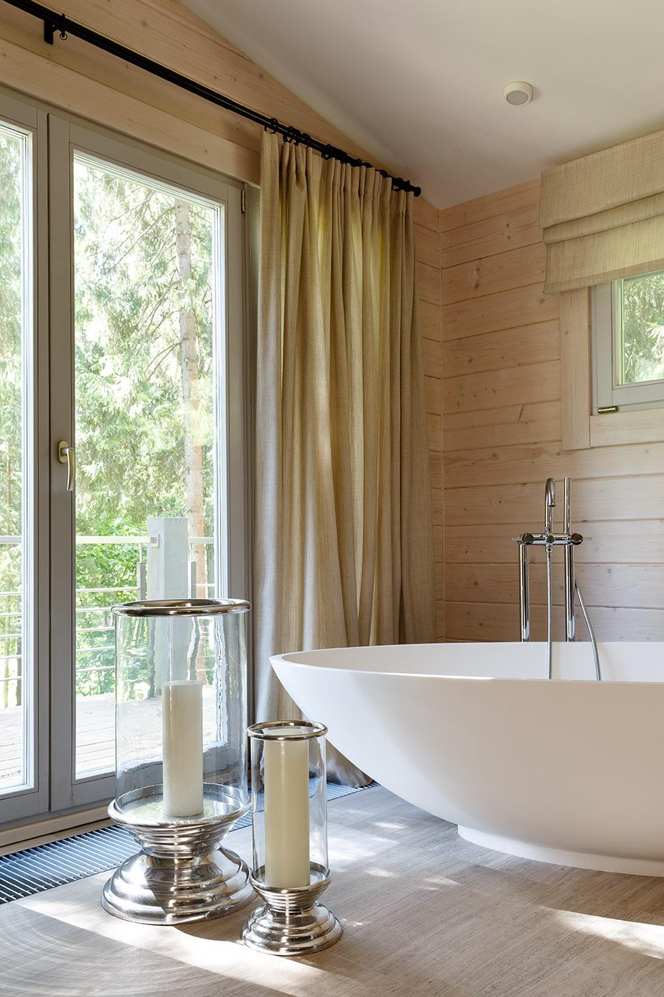 30 ванных комнат в загородных домах (галерея 0, фото 3)