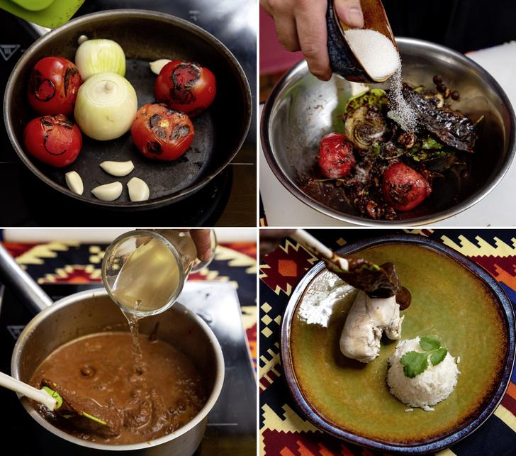Фото №4 - Перец и шоколад — наследие ацтеков: рецепт моле поблано