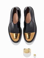 Туфли на плоском низком каблуке (3-4 сантиметра)