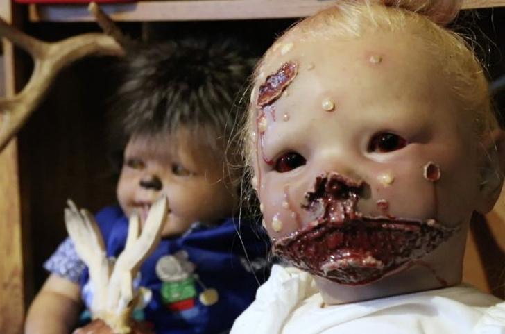 Фото №2 - Настоящая жуть: женщина создает кукол младенцев с зубами животных…и не только