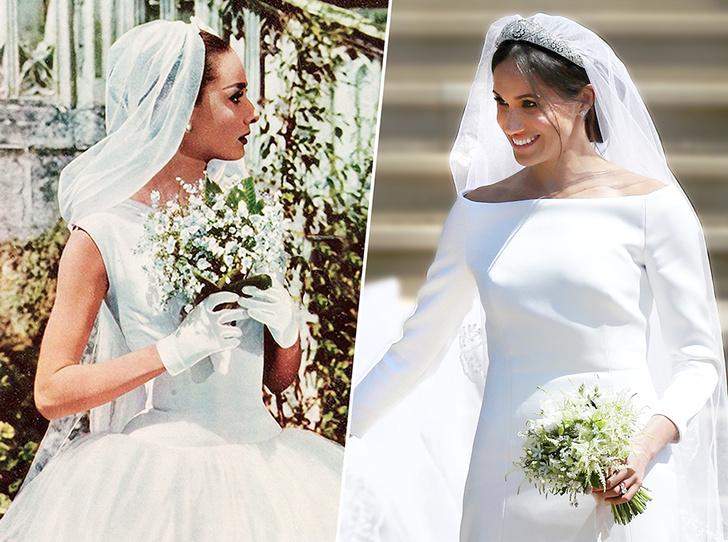 Фото №1 - От Одри Хепберн до Меган Маркл: знаменитые невесты в платьях Givenchy