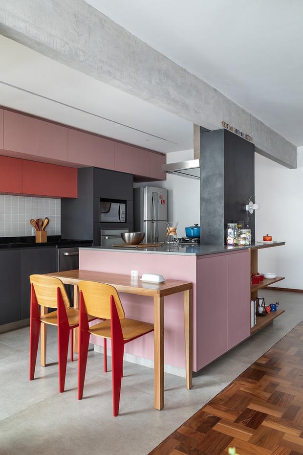 Фото №3 - Бетонная квартира с розовыми акцентами в Сан-Паулу