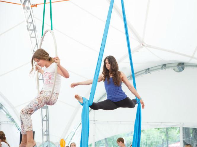Фото №2 - В Парке Горького открылась летняя цирковая школа  «Трапеция Актуаль»