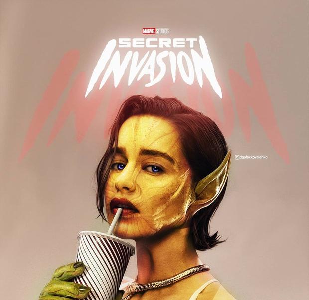 Фото №1 - Российские художники предположили, как будет выглядеть Эмилия Кларк в новом сериале Marvel