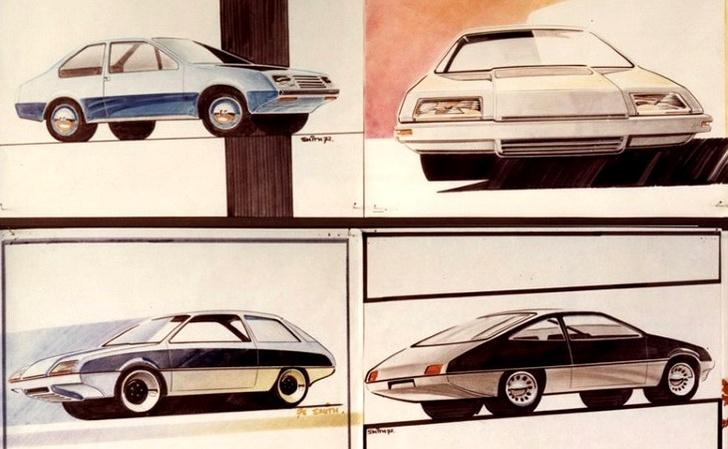 На эскизы и скетчи «перспективных «Москвичей» в Porsche не экономили— шанс произвести наилучшее впечатление не выпадает дважды…