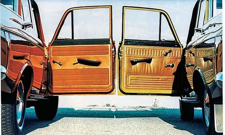 Стало и было. Слева обивка двери немецкого «Москвича», справа— советского