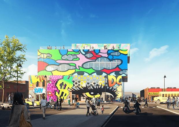 Фото №1 - Стеклянный дом с граффити в Детройте