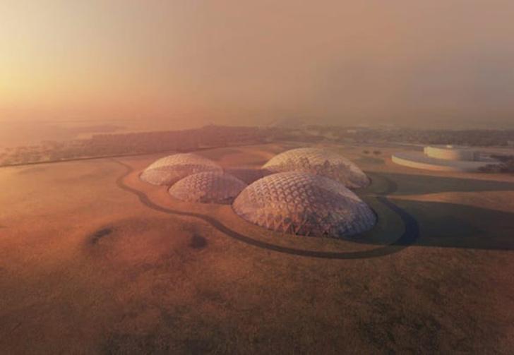 Фото №1 - В Арабских Эмиратах собираются построить космический город для тренировки колонизации Марса (фото)