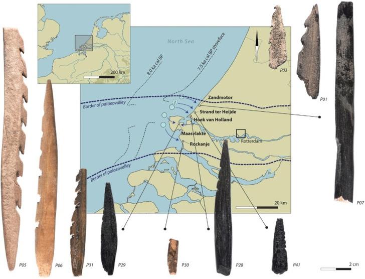 Фото №1 - В Нидерландах нашли стрелы из человеческих костей