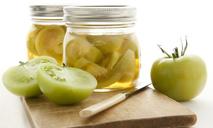 Маринованные зеленые помидоры за 2 дня