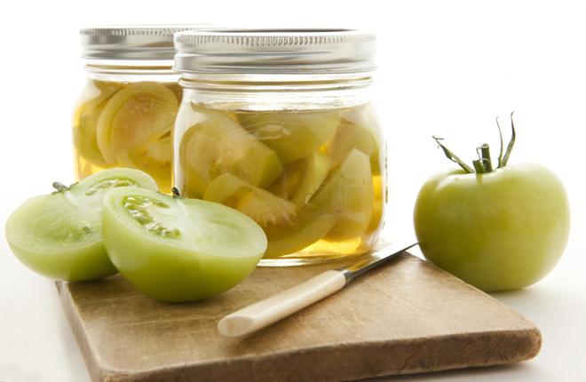 Рецепт вкусных маринованных зеленых помидоров на зиму за 2 дня