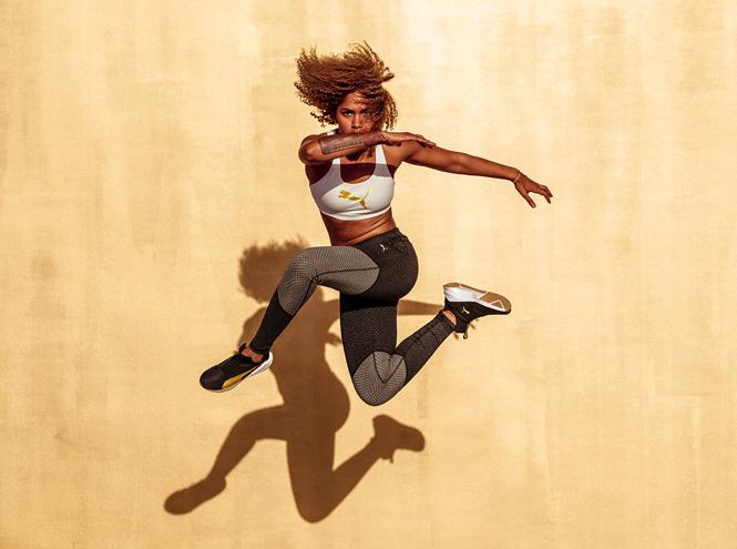 Фото №2 - Блеск золота в новой капсульной женской коллекции Puma