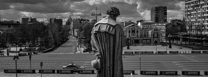 Фото №1 - «Пустая Москва»: фотовыставка о городе во время пандемии
