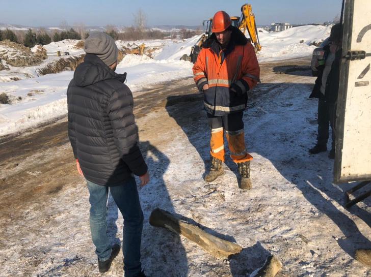 Фото №1 - В центре Кемерова обнаружены кости мамонта