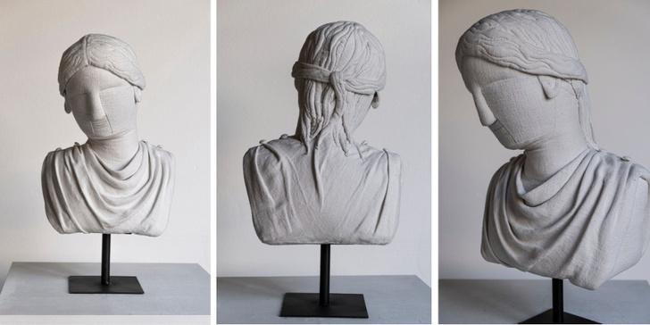 Фото №4 - Уникальные античные скульптуры из текстиля Сержио Рожера
