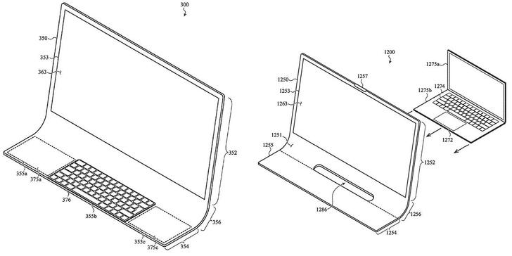 Фото №1 - Apple внезапно запатентовала стеклянный изогнутый настольный компьютер