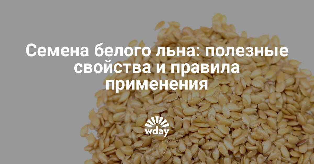 Семена белого льна — в чем отличие от обычных семян? Полезные свойства семян льна для здоровья. Как готовить, употреблять семя льна