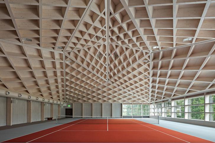 Фото №4 - Теннисные корты с ромбовидными потолками