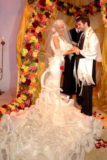 Свадьба Кристины Агилеры (фото с официального сайта певицы)