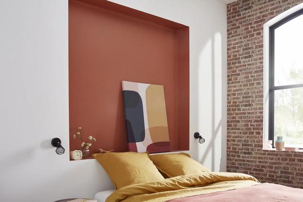 Фото №4 - Тренд: терракотовый цвет в спальне