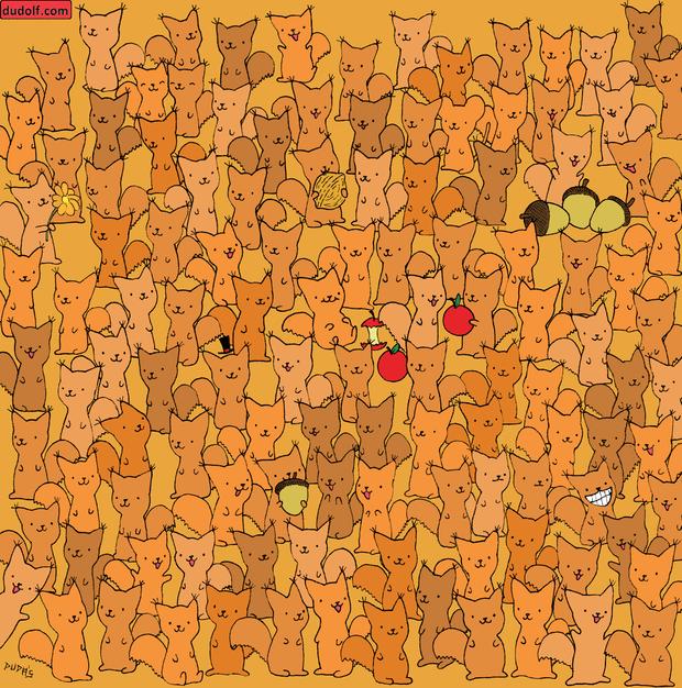 Фото №2 - Тест на зоркость: найди мышку среди бельчат
