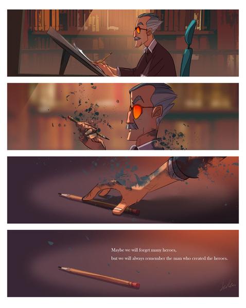 Фото №7 - Так трогательно: фанаты Marvel нарисовали комиксы в память о Стэне Ли