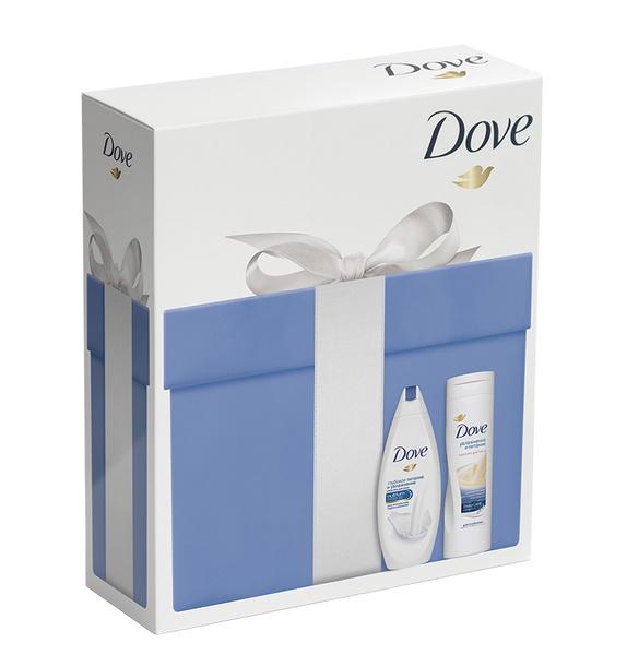 Подарочный набор Dove (Крем-гель для душа «Глубокое питание и увлажнение», Молочко для тела «Увлажнение и питание»)