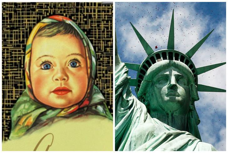 Фото №1 - Тест: Узнай прототипов известных скульптур, мультфильмов и оберток по фото