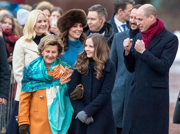 Фото №17 - Кейт Миддлтон и принц Уильям в Норвегии: день первый