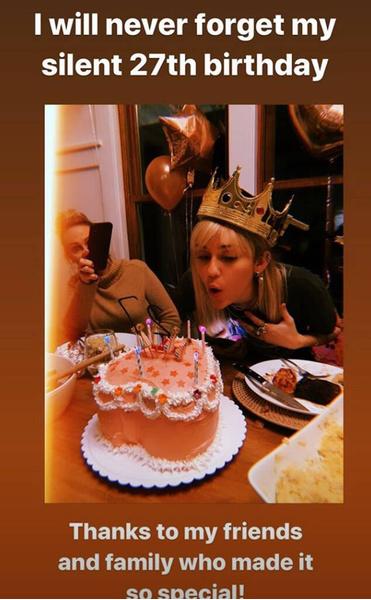 Фото №2 - Как Майли Сайрус отпраздновала свое 27-летие