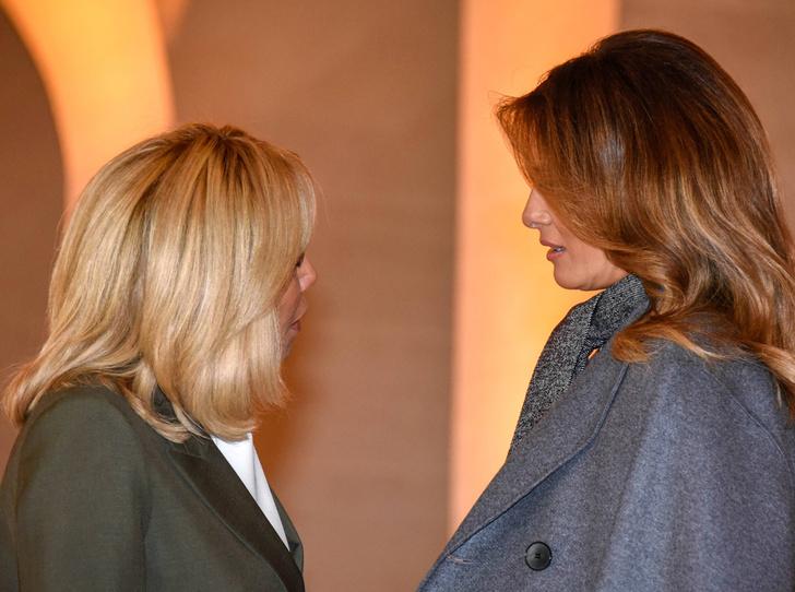 Фото №17 - 18 фотографий Брижит Макрон и Мелании Трамп, доказывающих, что их дружба – это серьезно