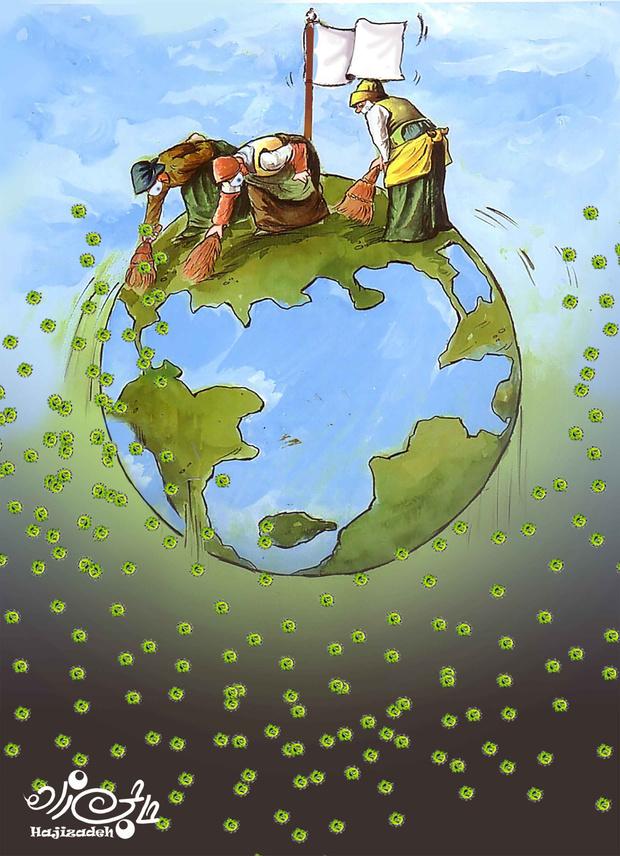Фото №3 - 50 карикатур про коронавирус международного конкурса в Китае